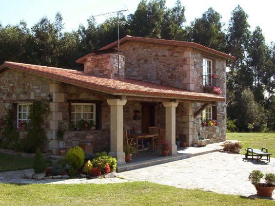 17 b y k ta evler in kullan l bir rnek daha ev - Casas de piedra gallegas ...