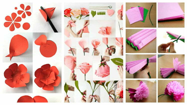 Make flowers from paper