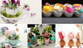 Yaratıcılığınızı Gıdıklayacak Yumurtanın Ana Malzeme Olduğu 10 Kendin-Yap Ev Dekoru