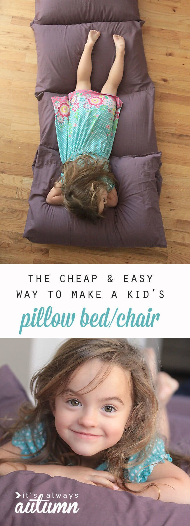 What do you say about making pillows for your children?
