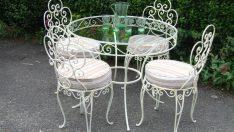 Modern Görünümüyle 19 Farklı Ferforje Masa Sandalye Modelleri