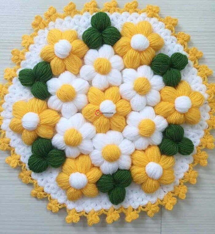16. Çiçeklerden Oluşan Yuvarlak Lifler
