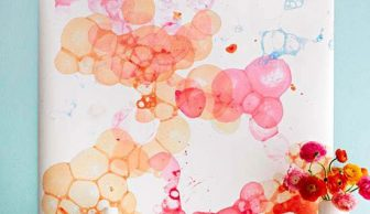 Deterjan Baloncukları ile Sanat Yapma Zamanı
