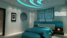 Mükemmel Görünen Alçı Yatak Odası Modelleri